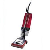 "Sanitaire® 12"" Commercial Upright Vacuum 7 Amp W/ EZ Kleen® Dust Cup, Red/Steel - EUK887"