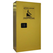 "Evac+Chair® 314 Metal Storage Cabinet, 24""W x 12""D x 44""H, Yellow"