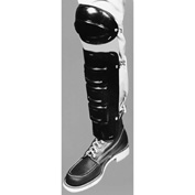 "Ellwood Safety Knee-Shin Guards, Elastic Straps, Polyethylene Plastic, Black, 10""L x 6-1/2""W, 1 Pair"