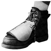 "Ellwood Safety Metatarsal Guards (No Laces), Spring Fastener, Aluminum Alloy, 12""L, 1 Pair"