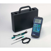 Extech 407228 Heavy Duty pH/mV/Temperature Meter Kit, Electrode, Probe