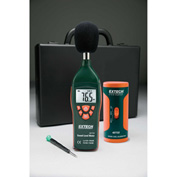 Extech 407732-KIT-NIST Low/High Range Sound Level Meter Kit, Plastic, 9V battery, NIST Certified