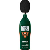 Extech 407732 Low/High Range Sound Level Meter, Plastic, 9V battery