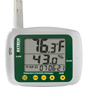 Extech 42280 Temperature & Humidity Datalogger, White/Green,