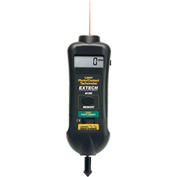 Extech 461995 Combination Contact/Laser Photo Tachometer, Digital, Black, RPM