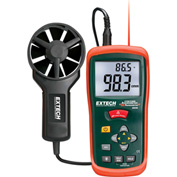 "Extech AN200 CFM/CMM Thermo-Anemonmeter & Infrared Thermometer, Green/Orange, 2.9""W"