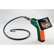 Extech BR200 Video Borescope Inspection Camera, Orange/Green, Case Included
