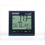 Extech CO100 Desktop Indoor Air Quality CO2 Monitor, Universal AC Adapter