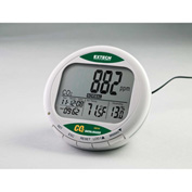 Extech CO210 Desktop Indoor Air Quality CO2 Monitor/Datalogger, AC Adapter, Software, Cable