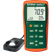 "Extech EA33-NIST Light Meter W/Memory, Battery, 1.4""W, NIST Certified NIST Certified"
