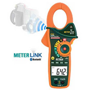 Extech EX845 True RMS Clamp/DMM W/IR Thermometer & Bluetooth METERLink™, Orange/Green