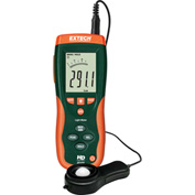 "Extech HD400-NIST Heavy Duty Light Meter, Battery, Case Included, 1.6""W, NIST Certified"
