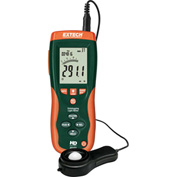 "Extech HD450-NIST Datalogging Heavy Duty Light Meter, Battery, Case Included, 1.6""W, NIST Certified"