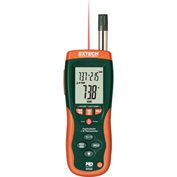 Extech HD500-NIST Psychrometer W/Infrared Thermometer, Case Included NIST Certified