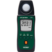 "Extech LT40 LED Light Meter, Battery, Case Included, 1""W"