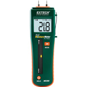 "Extech MO260 Combination Pin/Pinless Moisture Meter, Reachargeable, 0.44""L"