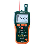 Extech MO295 Pinless Moisture Psychrometer & IR Thermometer, Replacement Sensor Tips, Case Included