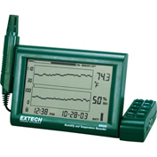 Extech RH520A Humidity+Temperature Chart Recorder W/Detachable Probe, Green, Universal AC
