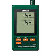 Extech SD500 Humidity/Temperature Datalogger, Green, SD Card, Universal AC