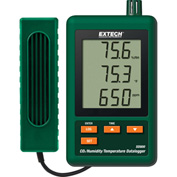 Extech SD800 CO2/Humidity/Temperature Datalogger, Green, SD Card, Universal AC