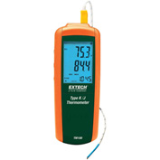 Extech TM100 Type K/J Single Input Thermometer, Orange/Green