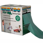 CanDo® Perf 100® Latex Free Exercise Band, Green, 100 Yard Roll, 1 Roll/Box