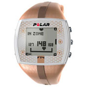 Polar® FT4F Heart Rate Monitor Watch for Female, Bronze/Bronze
