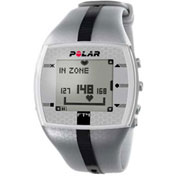 Polar® FT4M Heart Rate Monitor Watch for Male, Silver/Black