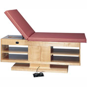 "Electric Hi-Low Upholstered Treatment Table with Adjustable Back & Shelves, 78""L x 30""W x 27"" - 39""H"
