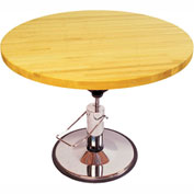 """Foot Operated Hydraulic Hi-Low Work Table, 60"""" Diameter x 28"""" - 36""""H"""