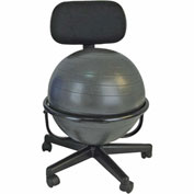 """CanDo® Metal Mobile Ball Chair without Arms, 18"""" Dia. Ball"""