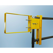 """FabEnCo A Series Carbon Steel Yellow Clamp-On Self-Closing Safety Gate, Fits Opening 34-36.5"""""""