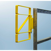 FabEnCo Z Series Carbon Steel Yellow Bolt-On Self-Closing Safety Gate, Fits Opening 21-24""