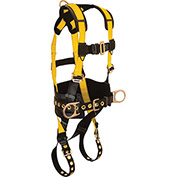 FallTech® 7035S Journeyman 3-D Full Body Harness, 3 D-rings, Size Small