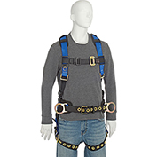 FallTech® 7073LX Foreman 3-D Full Body Harness, 3 D-rings, Size L/XL