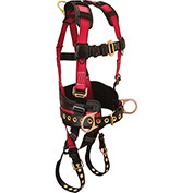 FallTech® 7078LX Foreman+ 3-D Full Body Harness, 3 D-rings, Size L/XL