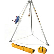 FallTech® 7508 Adjustable 8' Aluminum Confined Space Tripod Kit w/ 3-way Retrieval SRL