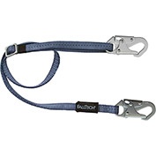 FallTech® 8209 4' to 6' Restraint Lanyard, Adjustable Single Leg, with 2 Snap Hooks