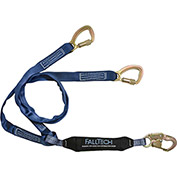 FallTech® 8241Y WrapTech 6' Shock Absorbing Lanyard, with 1 Snap Hook and 2 Carabiners