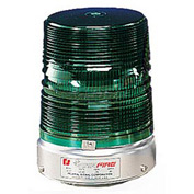 Federal Signal 131ST-012-024G Strobe, 12-24VDC, Pipe Mount, Green