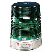 Federal Signal 131ST-120G Strobe, 120VAC, Pipe Mount, Green
