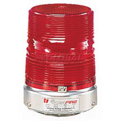 Federal Signal 131ST-120R Strobe, 120VAC, Pipe Mount, Red