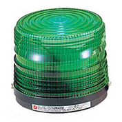 Federal Signal 141ST-120G Strobe light, 120VAC, Green