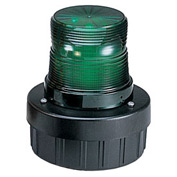 Federal Signal AV1-LED-120G Combination Audible/Visual Signal, Flashing, 120VAC, Green