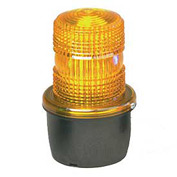 Federal Signal LP3M-012-048A Strobe light, male pipe mount, 12-48VDC, Amber