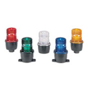 """Federal Signal LP3ML-024A Low Profile Steady Burning LED - 24VDC 1/2"""" Male Pipe Amber"""