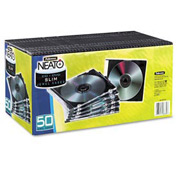 NEATO®  Slim Jewel Cases - Clear/Black, 50 pack - Pkg Qty 3