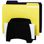 Fellowes® Partition Additions 5-Compartment Step File, Dark Graphite