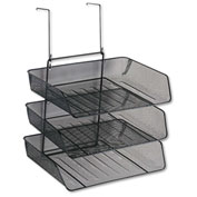 Fellowes® Mesh Partition Additions 3-Tray Organizer, Black