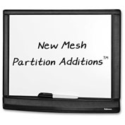 """Fellowes® Mesh Partition Dry Erase Board, 16-1/2""""W x 13-3/8""""H, Black"""